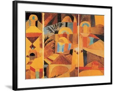 Il Giardino del Tempio-Paul Klee-Framed Art Print