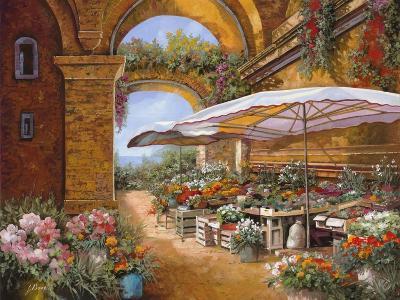Il Mercato Sotto i Portici-Guido Borelli-Giclee Print