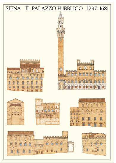 Il Palazzo Pubblico, Siena--Art Print