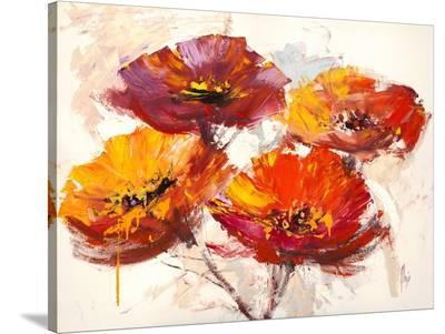 Il respiro dei papaveri-Luigi Florio-Stretched Canvas Print