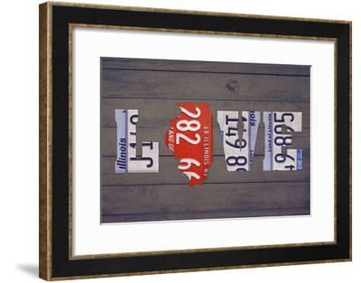 IL State Love-Design Turnpike-Framed Giclee Print