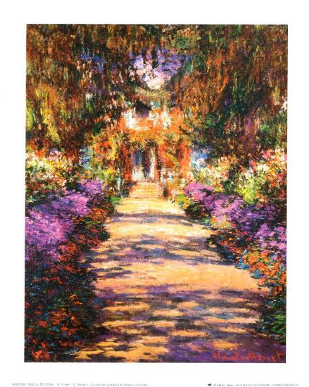 Il Viale del Gardino-Claude Monet-Art Print