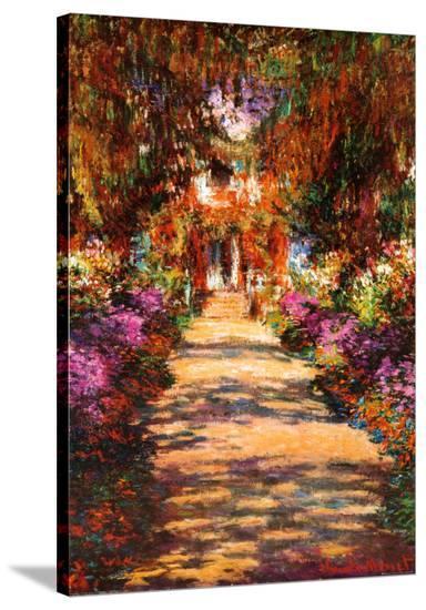 Il Viale del Gardino-Claude Monet-Stretched Canvas Print