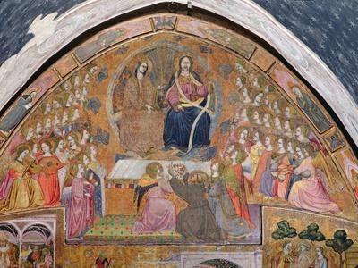 St. Francis Offering Roses to the Apparition of Christ and the Virgin, Fresco from the…