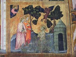 St Francis Throws Himself into the Thorny Brambles, Fresco from the Porziuncola, 1393 by Ilario da Viterbo