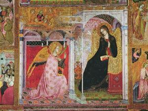 The Annunciation, Fresco from the Porziuncola, 1393 by Ilario da Viterbo