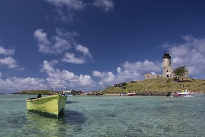 Ile Aux Fouquets, a Small Islet in the Blue Bay with a Lighthouse-Gabby Salazar-Photographic Print