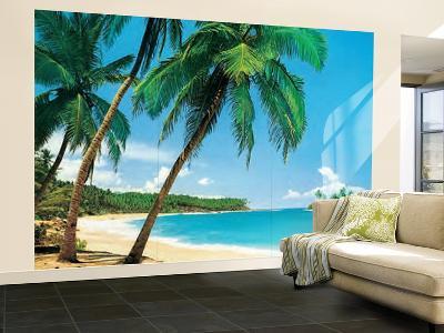 Ile Tropicale Tropical Isle Wall Mural--Wallpaper Mural