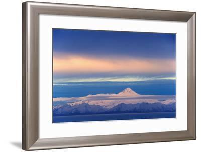 Iliamna Volcano Seen across Cook Inlet from the Kenai Peninsula-Design Pics Inc-Framed Photographic Print