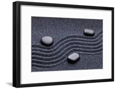 Zen Garden with a Wave Lines in the Sand with Iregular and Relax