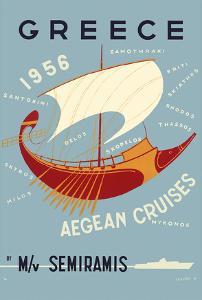 Greece - Aegean Cruises - by M/V Semiramis - Greek islands, including Skiathos, Delos, Skyros, Milo by Ilissos N^