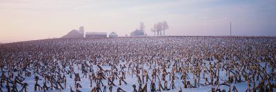 Illinois, Farm, Winter--Photographic Print
