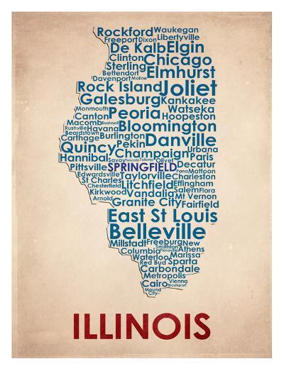 Illinois--Art Print