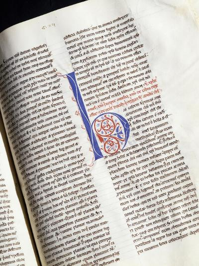 Illuminated Codex in Library of Monastery of St Scholastica, Subiaco, Italy--Giclee Print