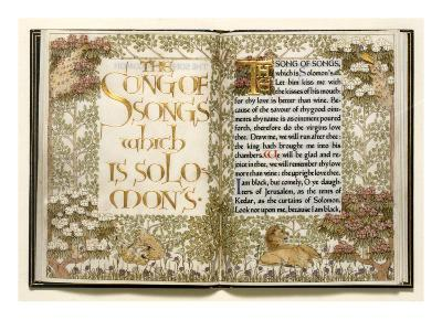Illuminated Copy of the Old Testament (Vellum)-English-Giclee Print