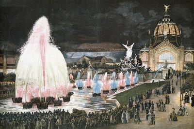 Illuminated Fountain for Paris World Exposition, 1889, France--Giclee Print