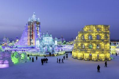 Illuminated Ice Sculpture at the Harbin Ice and Snow Festival in Harbin, Heilongjiang Province, Chi-Gavin Hellier-Photographic Print
