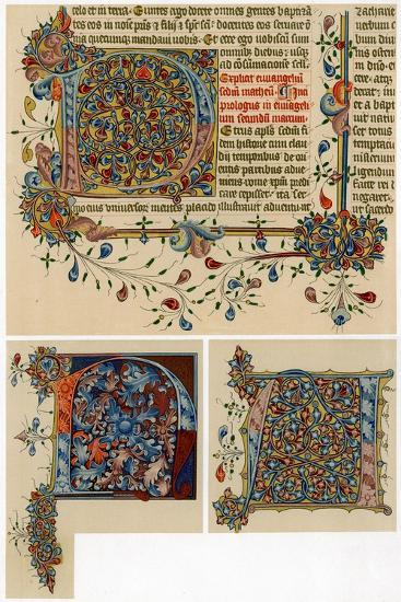 Illuminated Initial Letters, 1405-1415--Giclee Print