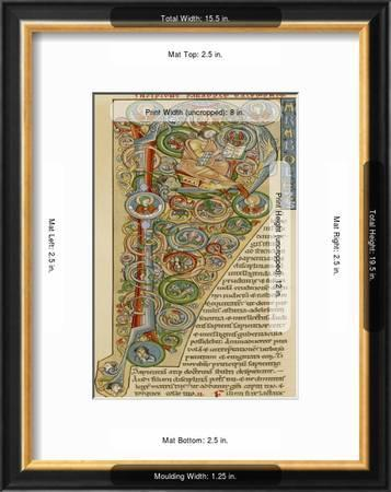 Illuminated Letter P Showing King Solomon Writing His Proverbs From A German Bible Giclee Print Art Com