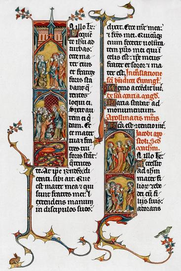 Illuminated Letters, Late 13th Century--Giclee Print