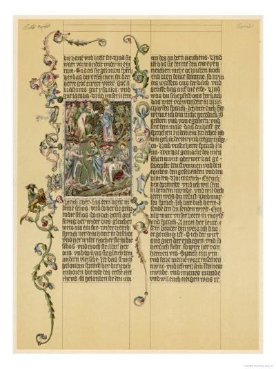 Illuminated Manuscript Known as the Wenzelbibel--Giclee Print