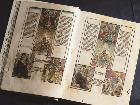 Illuminated Page from a Manuscript Preserved in St Scholastica Library in Subiaco, Lazio, Italy--Giclee Print