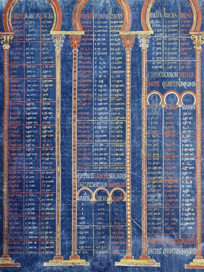 Illuminated Page from the Bible by Danila 9th Century--Giclee Print