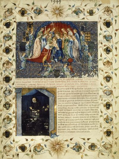 Illuminated Page from the Eulogy for Giangaleazzo Visconti by Michelino Da Besozzo--Giclee Print