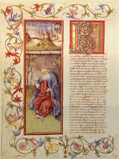Illuminated Page from the Manuscript of 24 Elders, Germany 15th Century--Giclee Print