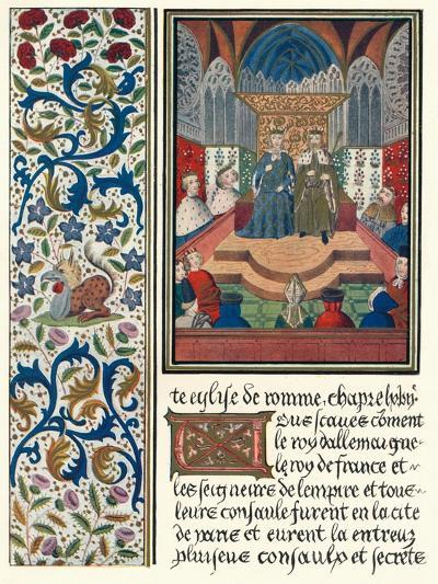Illuminated Page, with Bordering, C1480-Jean Froissart-Giclee Print