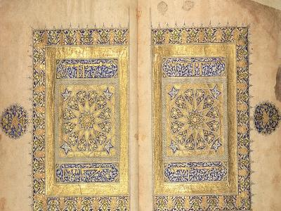Illuminated Pages from a Koran Manuscript, Il-Khanid Mameluke School--Giclee Print