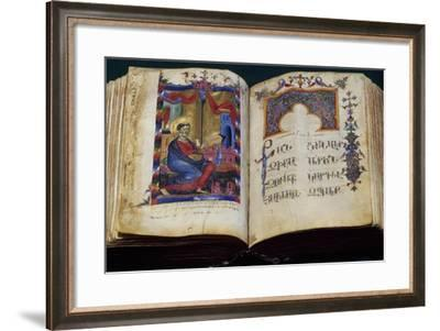 Illuminated Pages from the Matenadaran,Manuscript Museum in Yerevan,Armenia--Framed Giclee Print