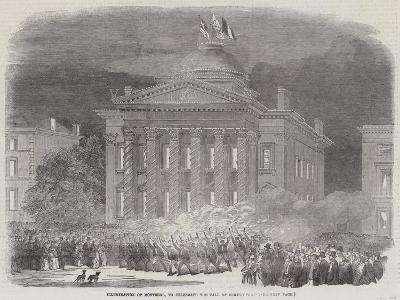 Illumination of Montreal, to Celebrate the Fall of Sebastopol--Giclee Print