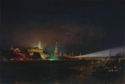 Illumination of the Moscow Kremlin, 1883-Alexei Petrovich Bogolyubov-Giclee Print