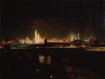 Illumination of the Moscow Kremlin, 1883-Oskar Adolfovich Hofman-Giclee Print