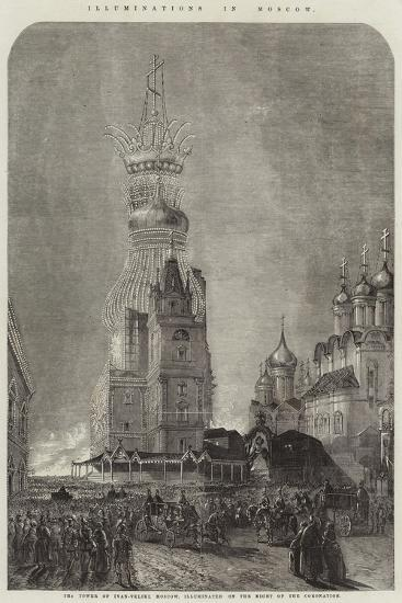 Illuminations in Moscow--Giclee Print