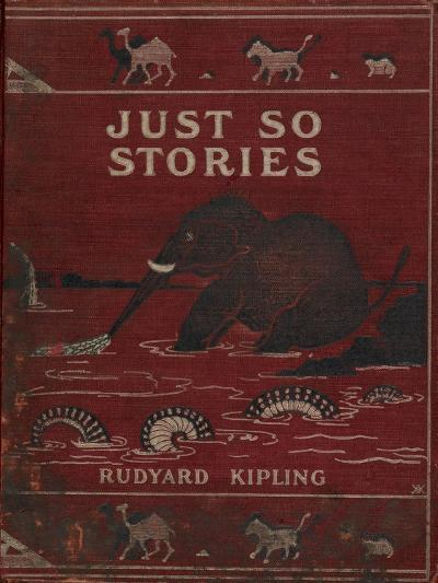 Illustrated Front Cover Showing an Elephant-Rudyard Kipling-Giclee Print