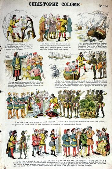 Illustrated History of Christopher Columbus--Giclee Print