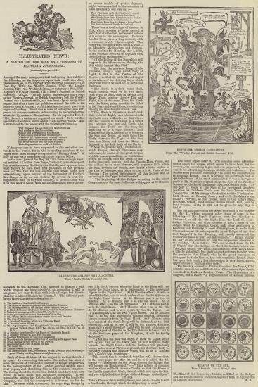 Illustrated News, a Sketch of the Rise and Progress of Pictorial Journalism--Giclee Print