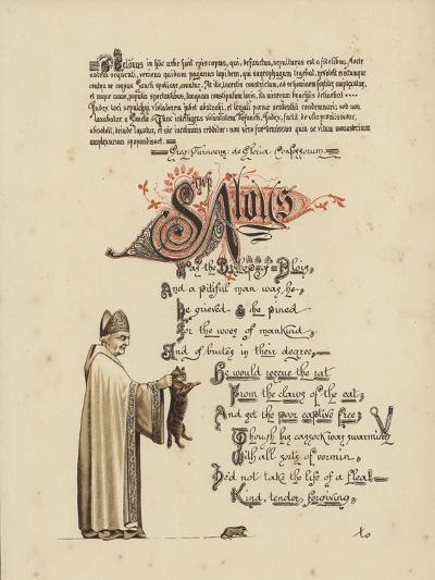Illustrated Poem About a Saint and a Bishop Who Would Set a Rat Free from the Jaws of the Cat--Giclee Print