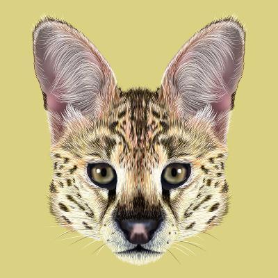 Illustrated Portrait of Serval-ant_art19-Art Print