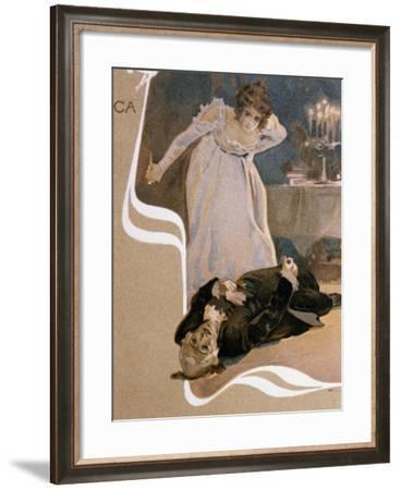 Illustrated Postcard--Framed Giclee Print