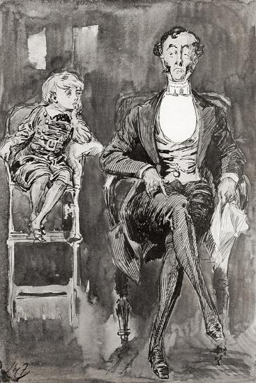 Illustration by Harry Furniss for the Charles Dickens Novel Dombey and Son--Giclee Print