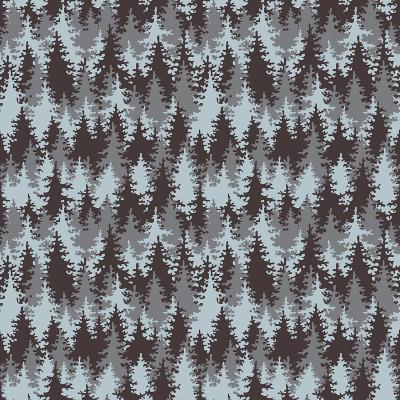 Illustration Coniferous Forest. Seamless Pattern.-Baksiabat-Art Print