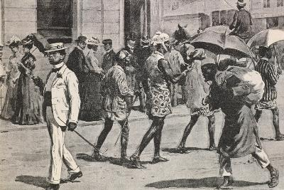 Illustration Depicting Implementation of Racial Laws in Johannesburg and Cape Town--Giclee Print