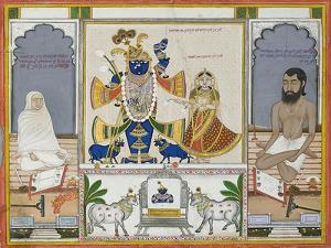 Illustration for a Manuscript on the Worship of Srinathji, Rajasthan, Early 19th Century