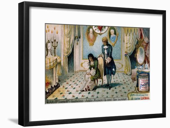 Illustration for Act II, Scene VIII of Mignon-Charles Louis Ambroise Thomas-Framed Giclee Print