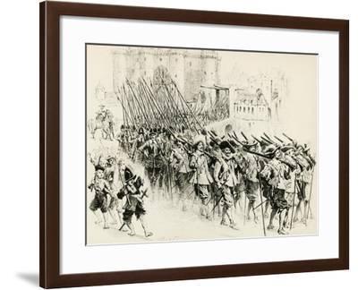 Illustration for Chapter X, Three Musketeers-Alexandre Dumas-Framed Giclee Print