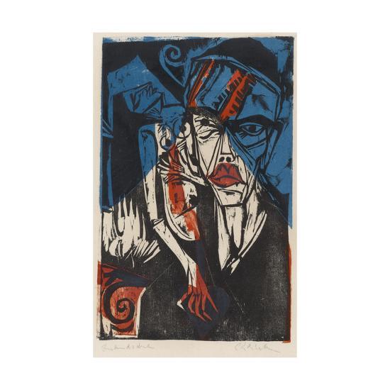 Illustration for 'Peter Schlemihl' by Adalbert Von Chamisso, 1915-Ernst Ludwig Kirchner-Giclee Print