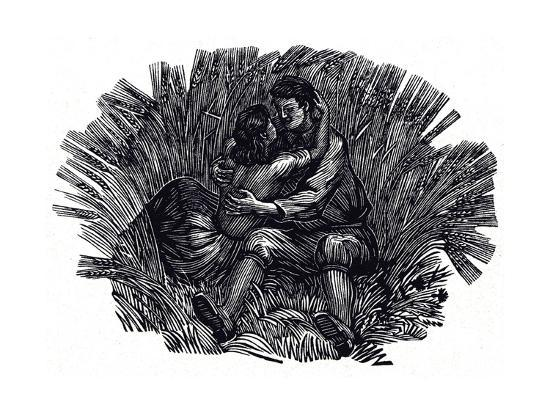 Illustration for Poems and Songs by Robert Burns, 1950--Giclee Print
